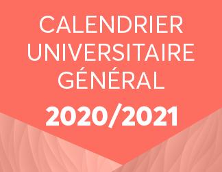 Portail Etudiant   Calendrier Universitaire 2020/2021