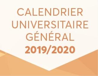 Portail Etudiant   Calendrier Universitaire 2019/2020